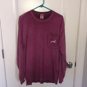 Rusty pink long sleeve VS PINK shirt